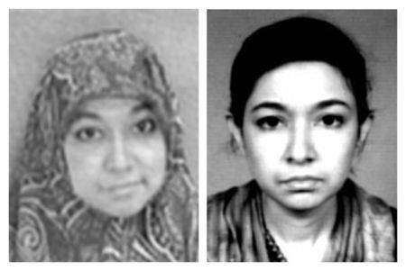 FBI combo photo showing Aafia Siddiqui