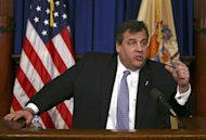 "In this photo provided by the Office of the Governor of New Jersey, Gov. Chris Christie speaks at a news conference at New Jersey's State House Jan. 2, 2013, in Trenton, N.J. Christie, blasted his party's ""toxic internal politics"" after House Republicans initially declined to approve disaster relief for victims of Superstorm Sandy. He said it was ""disgusting to watch"" their actions and he faulted the GOP's most powerful elected official, House Speaker John Boehner. The Republican Party seems as divided and angry as ever. Infighting has penetrated the highest levels of the House GOP leadership. Long-standing geographic tensions have increased, pitting endangered Northeastern Republicans against their colleagues from other parts of the country. Enraged tea party leaders are threatening to knock off dozens of Republicans who supported a measure that raised taxes on the nation's highest earners. (AP Photo/New Jersey Governor's Office, Tim Larsen)"