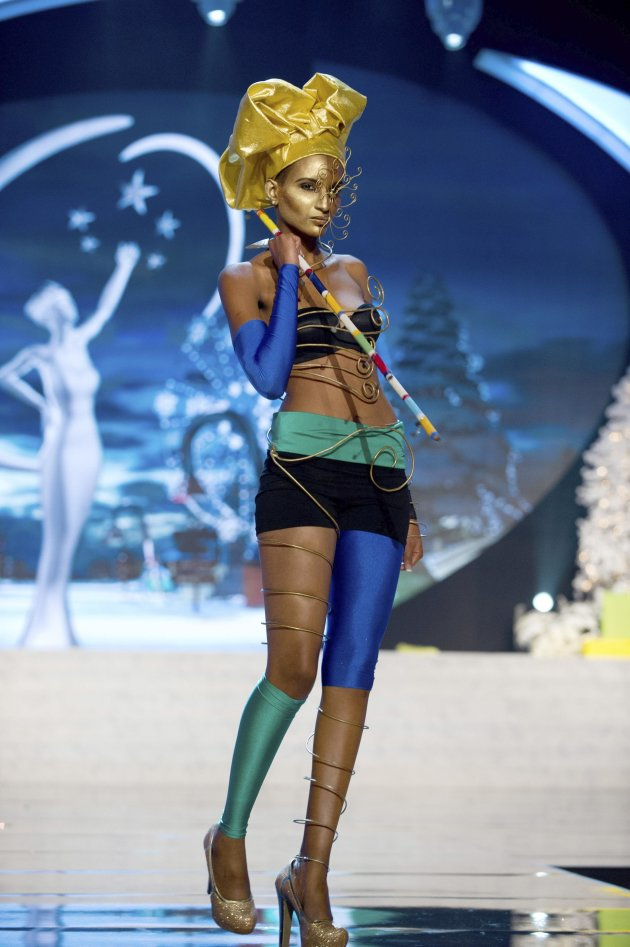Miss Tanzania Dominic performs onstage at the 2012 Miss Universe National Costume Show at PH Live in Las Vegas