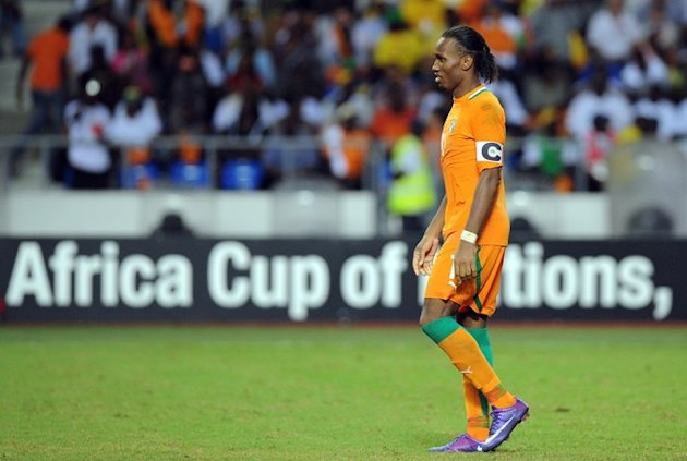 Ivory Coast's Captain Didier Drogba Reacts AFP/Getty Images