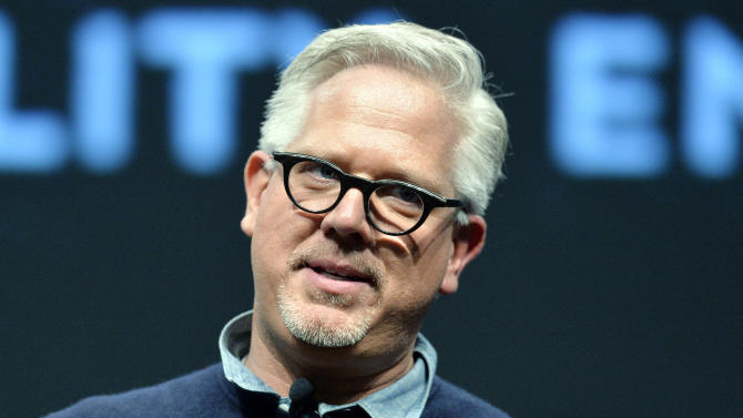 Radio and television personality Glenn Beck speaks to a gathering at FreePAC Kentucky, Saturday, April 5, 2014, at the Kentucky International Convention Center in Louisville, Ky. (AP Photo/Timothy D. Easley)