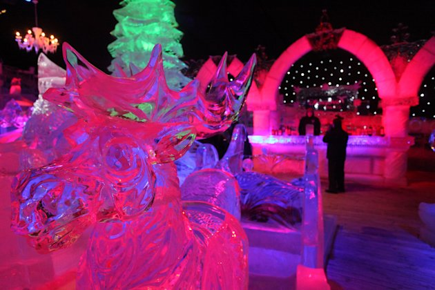 Snow & Ice Sculpture Festival in Bruges