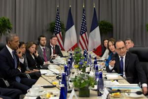 President Barack Obama meets with French President …