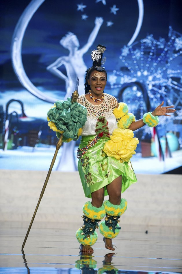 Miss Nigeria Isabella Ojong Ayuk performs onstage at the 2012 Miss Universe National Costume Show at PH Live in Las Vegas