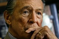 """FILE - This May 8, 2006 file photo shows Mike Wallace, longtime CBS """"60 Minutes"""" correspondent, during an interview at his office in New York. Wallace, famed for his tough interviews on """"60 Minutes,"""" has died, Saturday, April 7, 2012. He was 93. (AP Photo/Bebeto Matthews)"""
