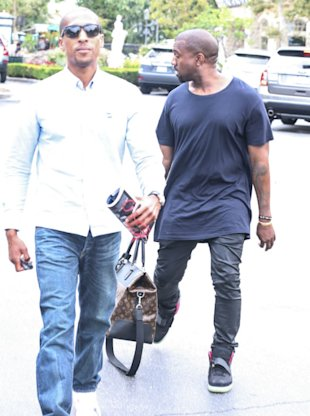 Daddy Duties? Kanye West Steps Out For Lunch With Louis Vuitton Baby Bag