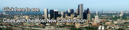 See article: Cities with the most new construction