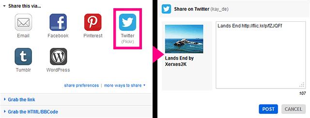 How to share on Flickr Desktop