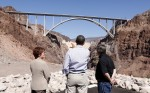 U.S. President Barack Obama visits the Hoover Dam during in Boulder City
