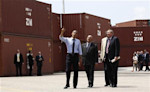 U.S. President Barack Obama tours the Port of Tampa in Florida