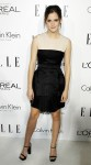 Honoree Emma Watson poses as she arrives at the 19th Annual ELLE Women in Hollywood dinner in Beverly Hills
