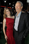 "Cast members Clint Eastwood, right, and Amy Adams pose together at the premiere of ""Trouble With the Curve"" at the Westwood Village Theater on Wednesday, Sept. 19, 2012, in Los Angeles. (Photo by ..."