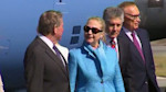 Clinton arrives down under
