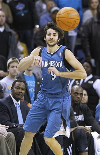 Minnesota Timberwolves Point Guard Ricky Rubio (9) Passes
