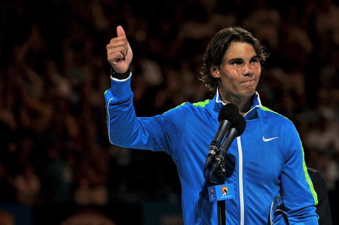 Rafael Nadal Of Spain Gestures