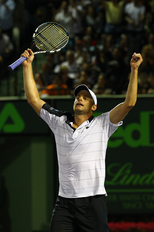 Andy Roddick Of The USA Reacts