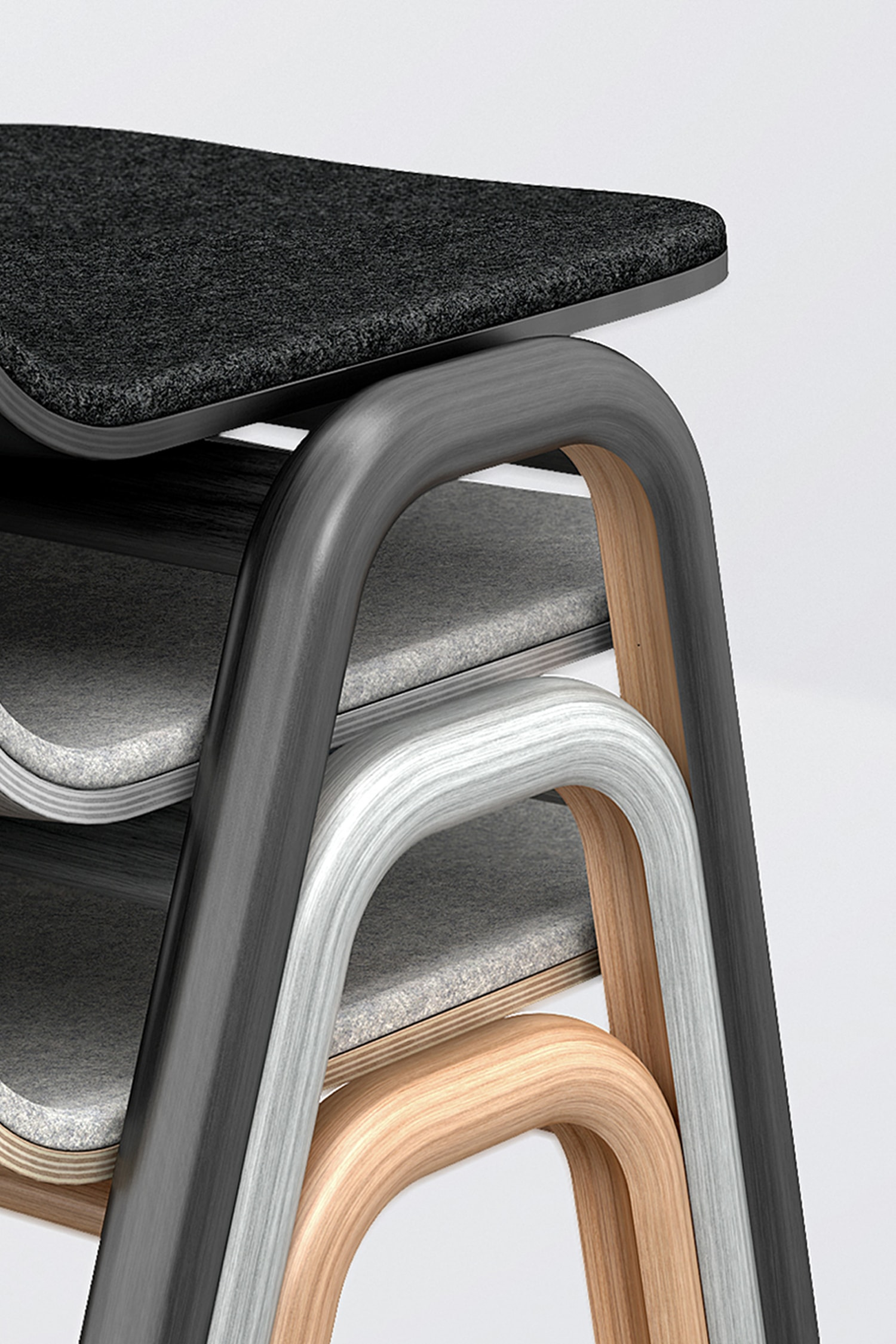 how are chairs made garden table and 2 b q blond industrial product design london fenn chair detail view of grey oak black the using steam