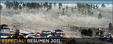 Imágenes del tsunami de Japón a inicios del 2011 / Foto: AP