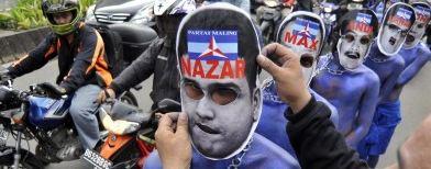 Demo meminta pengusutan kasus Nazaruddin. Foto: Antara/Fanny Octavianus