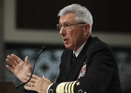 U.S. Navy Admiral Samuel Locklear testifies before the Senate Armed Services Committee hearing on the U.S. Pacific Command and U.S. Forces Korea in review of the Defense Authorization Request for FY2014 in Washington April 9, 2013. REUTERS/Gary Cameron