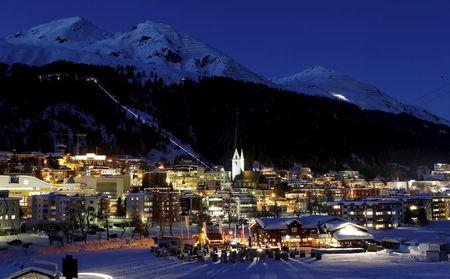 File photo of the Swiss mountain resort of Davos