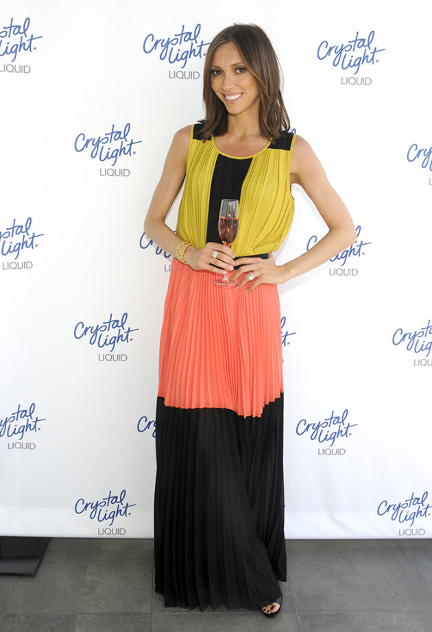 Giuliana Rancic And Crystal Light Liquid Toast Red Carpet Style