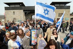 Members of a delegation from Israel arrive for a ceremony…