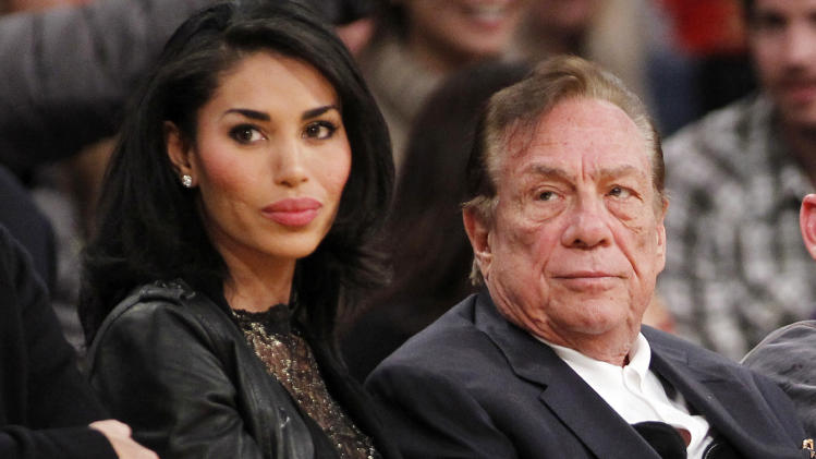 Los Angeles Clippers owner Donald Sterling and V. Stiviano