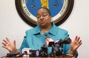 Wayne County Prosecutor Kym Worthy speaks during a…