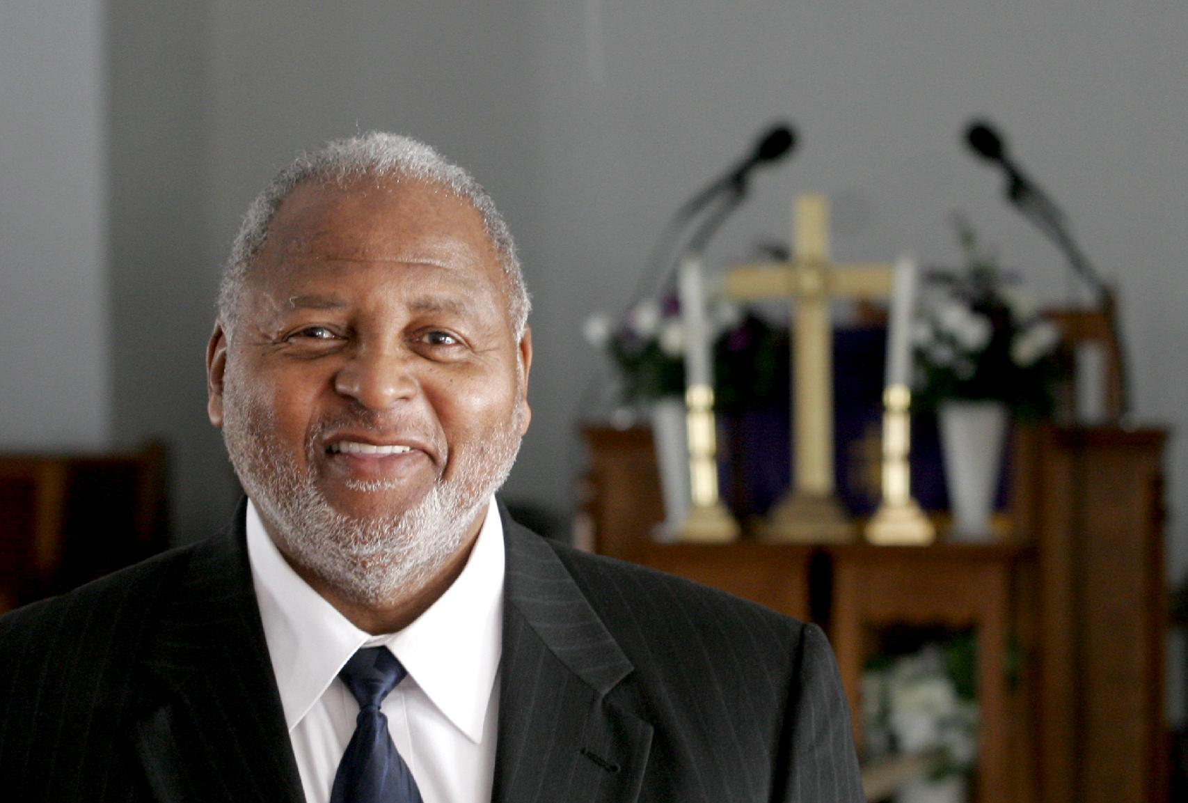 The Rev. William B. Schooler is pictured in January 2011 photo in Dayton, Ohio. Schooler, 70, was fatallly shot Sunday, Feb. 28, 2016, while in his office at St. Peter's Missionary Baptist Church in Dayton, Dayton police said. His brother, Daniel Gregory Schooler, 68, was arrested at the scene and taken to the Montgomery County jail. He faces a murder charge on Monday, said Sgt. Richard Blommel. (Chris Stewart/Dayton Daily News/AP)