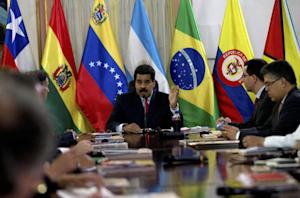 Venezuela's President Nicolas Maduro speaks at …