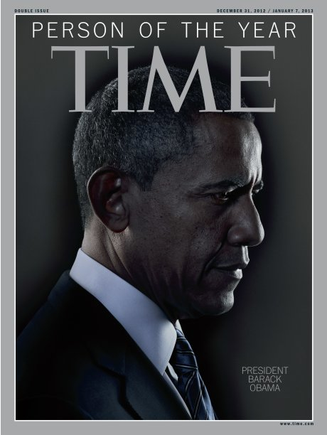 TIME magazine cover of Barack Obama as Person of the Year 2012