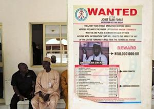 A poster advertising for the search of Boko Haram leader …
