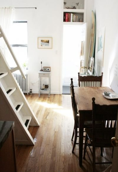 Two people share this tiny, 240-square-foot apartment in Brooklyn, N.Y.