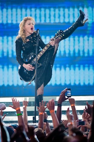 Madonna kicks off the MDNA North America Tour Opener in Philadelphia on August 28, 2012 -- Getty Images