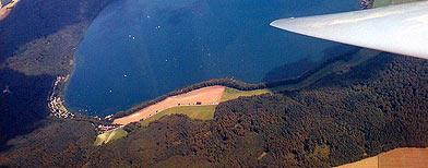 Vista aérea de Laacher See, en Alemania.(USEBlackbird/Wikimedia Commons)