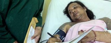 John Kei di rumah sakit (Foto: Antara/Dok. Keluarga John Kei)