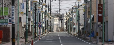 Jalanan kota Tomioka yang kosong (Foto: Reuters/Stringer)