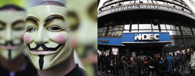 Anonymous y el Indec /  Foto: La Nación