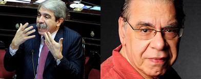 Aníbal Fernández y Enrique Pinti / Foto: Infobae
