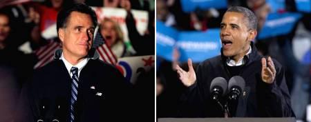 Mitt Romney and Barack Obama. (AP Photo)