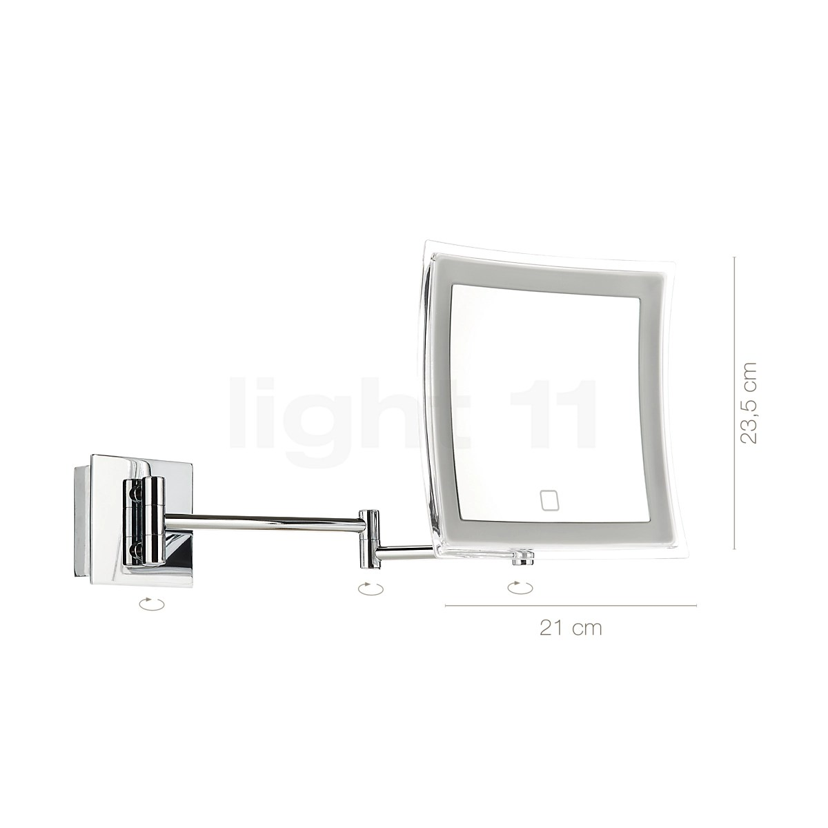 decor walther bs 84 touch wall mounted cosmetic mirror led