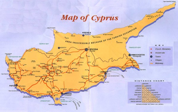 Cyprus Greece Map Pictures to Pin on Pinterest PinsDaddy