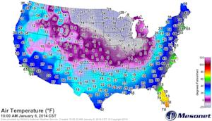 'Polar Vortex' Creates Huge Temperature Difference …
