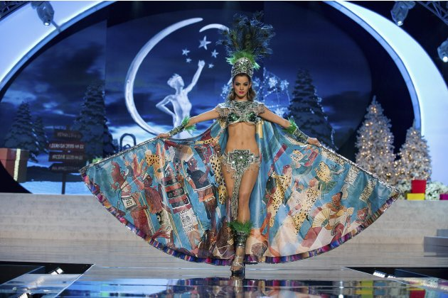 Miss Guatemala Laura Godoy performs onstage at the 2012 Miss Universe National Costume Show at PH Live in Las Vegas