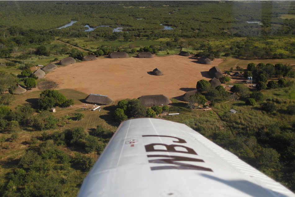An aerial view of the Yawalapiti …
