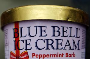 This photo shows a container of Blue Bell ice cream…