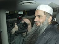 File picture shows radical Islamist cleric Abu Qatada being driven away to jail from the High Court in London on April 17, 2012. British judges on Monday upheld an appeal by terror suspect Qatada against his extradition to Jordan, a decision immediately condemned by the government in London