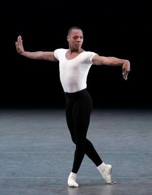 "In this June 20, 2010 photo released by the New York City Ballet, Albert Evans appears during his farewell performance in ""The Four Temperaments,"" in New York. Evans, who was in his late 40s, died at New York's Mount Sinai Hospital on Monday, June 22, 2015, said Rob Daniels, a spokesman for the ballet company. (Paul Kolnik/New York City Ballet via AP)"