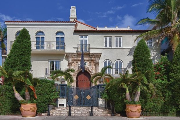 The mansion where world-famous designer Versace was murdered